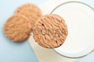 sweet cookies and milk