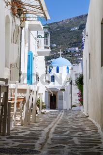 Typical small street in Greece