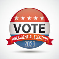 Vote Button Presidential Election 2020