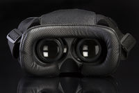 Virtual reality glasses vrl on black background