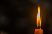 high flame of a candle