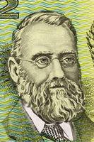 William Farrer (1845-1906) on 2 Dollars 1966 banknote from Australia. Leading Australian agronomist and plant breeder.