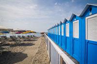 Typical Italian beach huts
