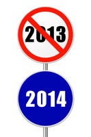 Round sign New Year