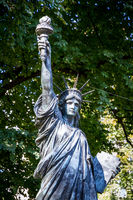 The statue of liberty in Luxembourg Gardens, Paris