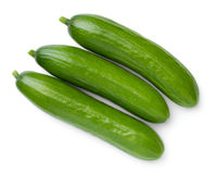 Mini Cucumbers Isolated On White Background