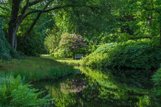 Luetetsburg castle garden, East Frisia, Lower Saxony, Germany