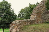 Castle walls of the ruin of Schauenburg