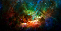 Colorful galaxy background. Elements of this image furnished by NASA