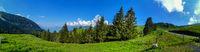 View on the Alps in Sarnen in Switzerland. Swiss Alps