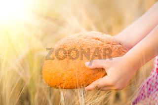 Bread in hands