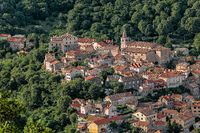 Historic town of Bakar in green forest, Croatia