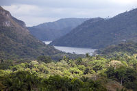 Panoramic view on tropical nature. Cuba