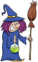 witch Halloween character cartoon illustration