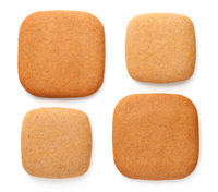Gingerbread Cookies In Shape Of Squares