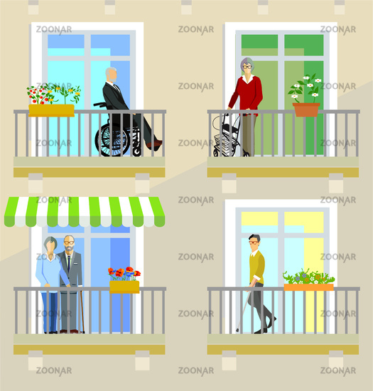 Seniors and the disabled in nursing homes