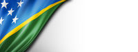 Solomon Islands flag isolated on white banner