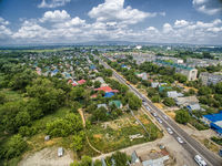 The center of the industrial city of Nevinnomyssk. Russia Stavropol Territory.