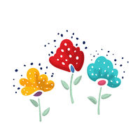 Vector floral stickers