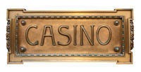 Ornate Brass Sign For A Casino