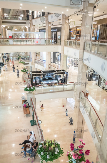 interior of the commercial in Taipei 101 Shopping Mall