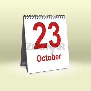 October 23th   23.Oktober