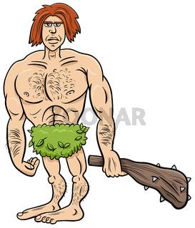 prehistoric primitive man cartoon illustration