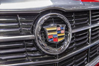Cadillac logo on a car