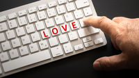keyboard with letters love