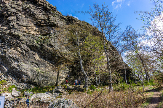 The famous natural Beauty of the Bruchhauser Stones in the Sauerland in Germany