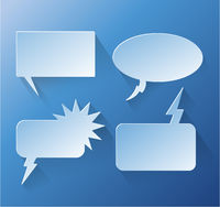 Abstract design speech bubble copyspace