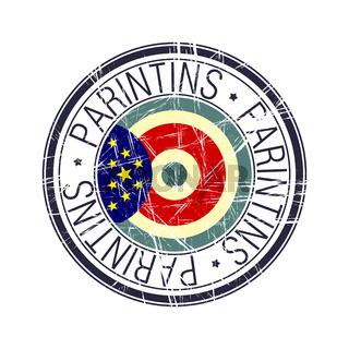 City of Parintins, Brazil vector stamp