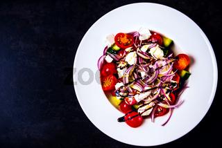 Italian homemade traditional salad