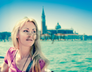 Portrait of the young woman in Venice