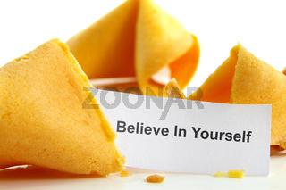 Believe In Yourself fortune cookie