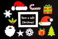 Frame, Christmas Decoration Accessories, Text Have A Safe Christmas