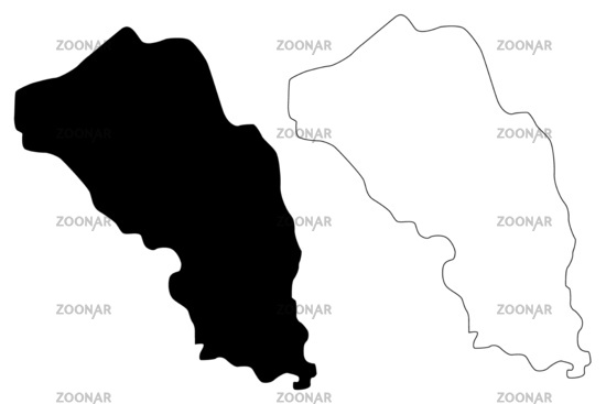 Gjorce Petrov Municipality (Republic of North Macedonia, Skopje Statistical Region, Greater Skopje) map vector illustration, scribble sketch Gjorce Petrov map