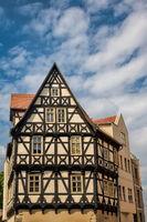 Halle Saale, Germany - 21.06.2019 - medieval Graseweg house