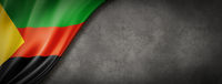 Azawad MNLA flag on concrete wall banner