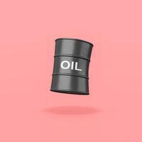 Oil Barrel on Red Background