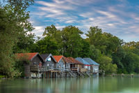 Calm morning in summer at lake Ammersee, Bavaria, Germany