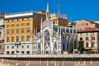 Rome. Sacred Heart Church of the Intercession on Tiber river bank in Rome