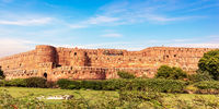Agra Fort walls panorama, India, Uttar Pradesh