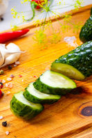 fresh pickled cucumber with garlic, (polish malosolne)