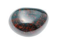 polished Heliotrope (Bloodstone) gemstone isolated