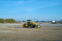 Construction site in an industrial estate in the Rothensee district in Magdeburg in Germany