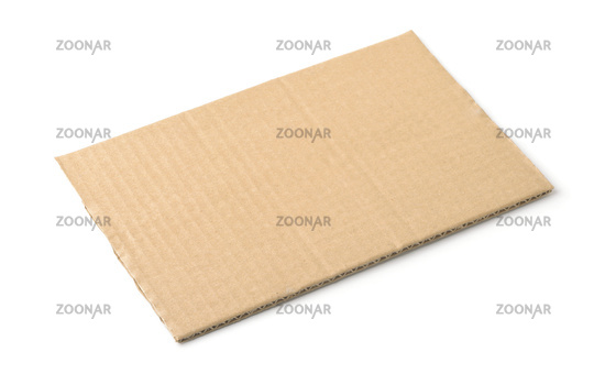 Piece of brown rectangular cardboard sheet