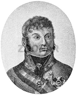 Portrait of Charles Philip, Prince of Schwarzenberg - an Austrian field marshal.