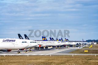 Flugzeuge von Lufthansa am Airport Frankfurt