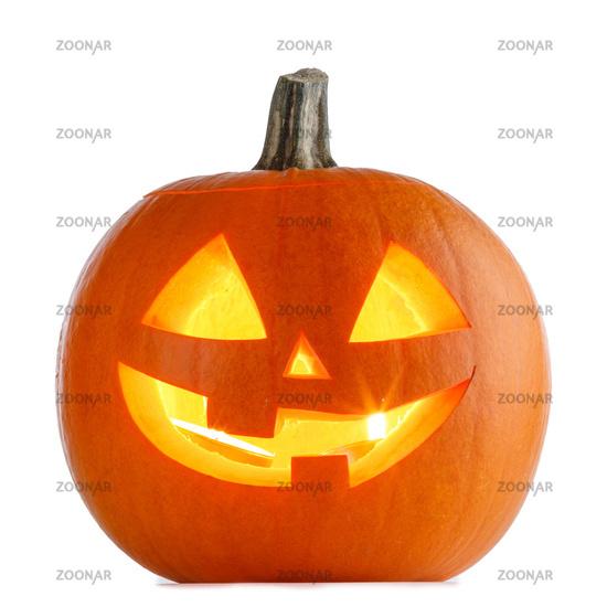 Halloween Pumpkin isolated on white